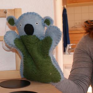 Filz-Handpuppe Koala-Bär für Waldkindergarten-Kinder
