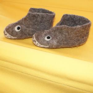Filz-Hausschuhe Hai Gr.21, ideal für warme Waldkinderfüsse