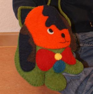 Filz-Handtasche Hund zum Ausführen für alle Waldkinder
