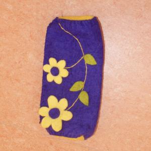 lilanes Filz Mäppchen mit gelben Blumen nicht nur für Waldkinder