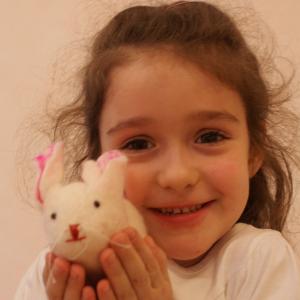 Filz Oster-Hase zum spielen für Waldkindergarten-Kinder