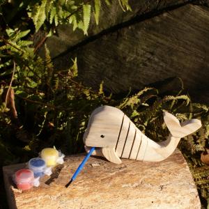 Holz-Wal zum bemalen für Waldkindergarten-Kinder