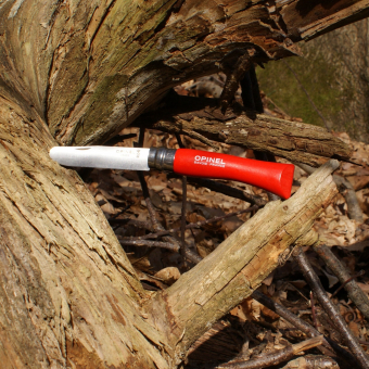 Kinder-Schnitzmesser von Opinel, rot