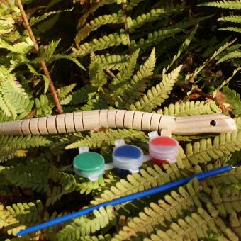 Holz-Eidechse zum bemalen für Waldkindergarten-Kinder