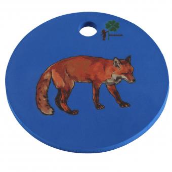 Waldkindergarten-Sitzkissen, blau mit Fuchs