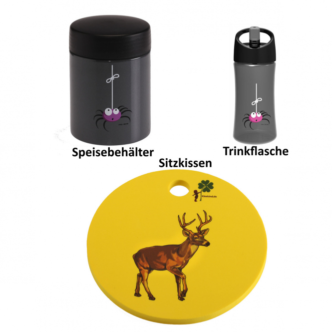 Waldwichtel Paket in gelb/grau