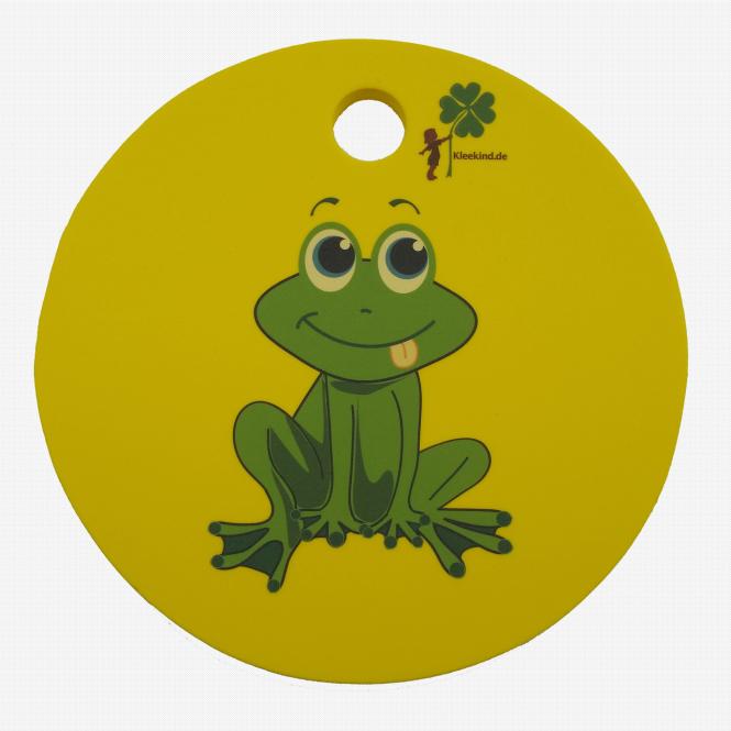 B-WARE Waldkindergarten-Sitzkissen, gelb mit Frosch