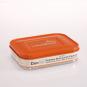 Brotdose aus Edelstahl, zwei Fächer, orange