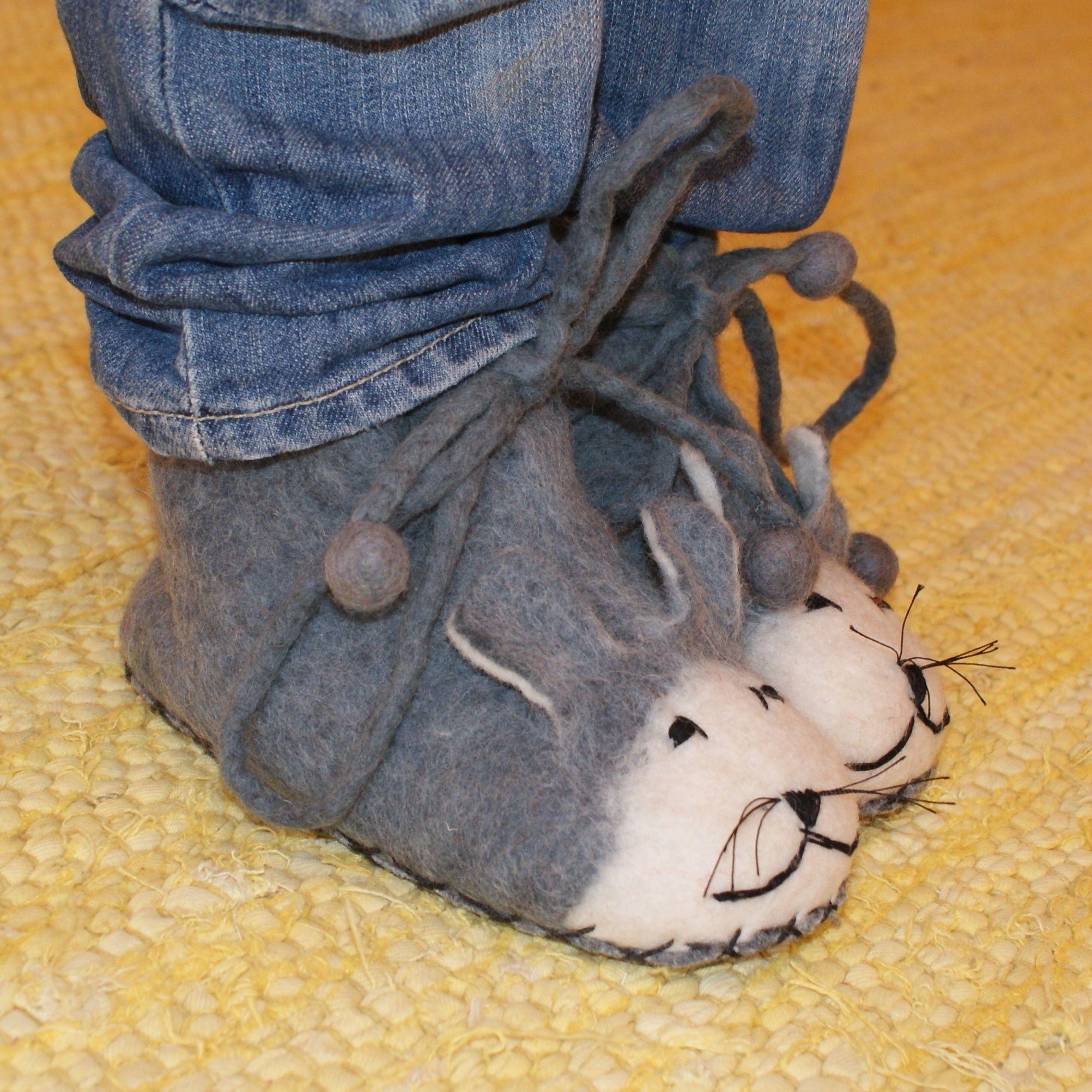 Maus Hausschuhe Filz-hausschuhe Maus Gr.31 Als